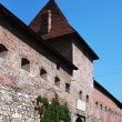Stock Photo: Defensive wall of medieval castle