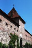 Mury obronne zamku średniowiecznego — Zdjęcie stockowe