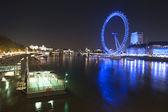 London Eye at Night — Stock Photo