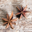 Stock Photo: Stars anise on wood