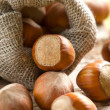 Hazelnuts (filbert) - Stock Photo