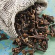 Stock Photo: Clove in bag