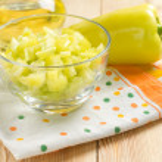 peperoni dolci freschi slised verde — Foto Stock