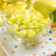Fresh slised green sweet peppers — Stockfoto