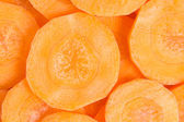 Sliced carrot background — Stock Photo