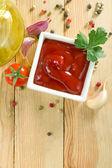 Sauce au piment rouge chaude — Photo