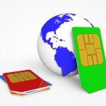 SIM card .Global Communications — Stock Photo