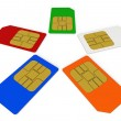 sim cards — Stock Photo #10736848