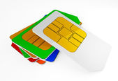 Collection SIM cards — Stock Photo