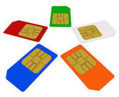 SIM cards — Stock Photo