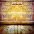 Stock Photo: Floor and wall