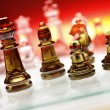 Game of glass chess pieces — Stock Photo