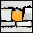 Torn paper pieces - Stock Photo