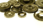 Cog gears on plain background — Stock Photo
