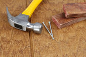 Work tools on wood — Stock Photo