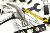 Tools on white — Stock Photo