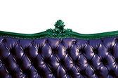 Genuine Leather Sofa Bed — Stock Photo