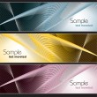 Stok Vektör: Set of Vector Banners. Abstract Background.