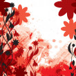 Vector Background with Flowers. Eps10. — Imagen vectorial
