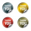 "Vector ""thank you"" stickers. Vector Eps10. - Stock Vector"
