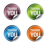 """Vector """"thank you"""" stickers. Vector Eps10. — Stock Vector"""