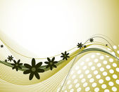 Abstract Floral Background. Eps10 Illustration. — Stockvector