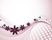 Abstract Floral Background. Eps10 Illustration. — Cтоковый вектор