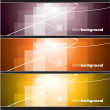 Set of Banners. Abstract Background. Eps10 Format. — Stock Vector #11992269
