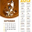 2013 Calendar. September. - Stock Vector