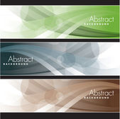 Set of Banners. Abstract Background. Eps10 Format. — Stock Vector