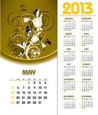 Календарь 2013. Мая. — Cтоковый вектор