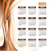 2013 Calendar. Vector Eps10. — Stock Vector