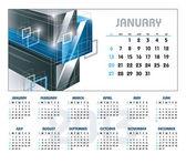 2013 Calendar. January. — Stock Vector
