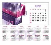 2013 Calendar. June. — Stock Vector