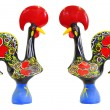 Traditional portuguese statuette of Barcelos cock - Stock Photo