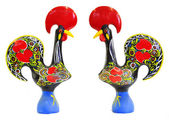 Traditional portuguese statuette of Barcelos cock — Stock Photo