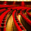 Theater red velvet chairs — Stock fotografie