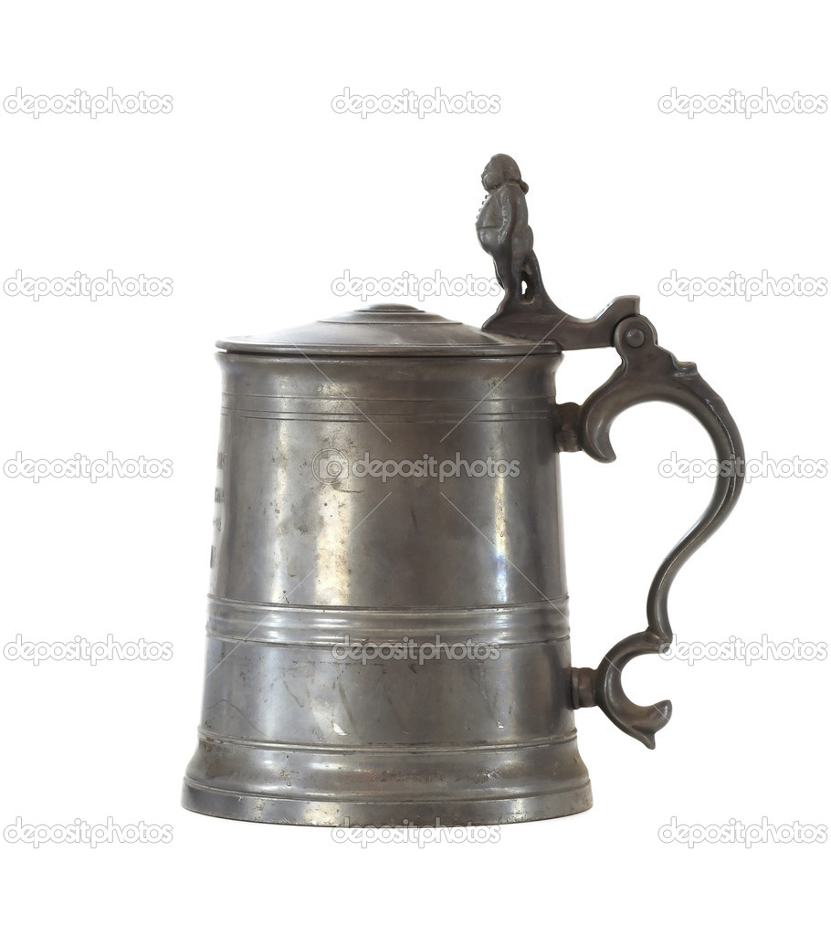 Vintage beer iron mug — Stockfoto #11153334