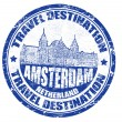 Stock Vector: Amsterdam stamp