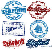 Seafood stamps — Vetorial Stock