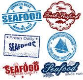 Selos de frutos do mar — Vetorial Stock