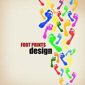Foot prints background — Stock Vector