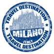 Stock Vector: Milano stamp