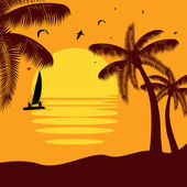 Tropický ráj — Stock vektor