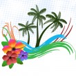 Tropical background — Stockvectorbeeld