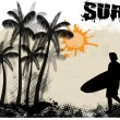 Surf poster background - Stock Vector