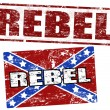 Royalty-Free Stock Vector Image: Confederate flag and rebel stamp