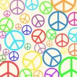 Retro peace background — Stock Vector