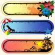 Set of tropical banners — Stock Vector