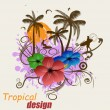 Tropical poster design — Stock Vector